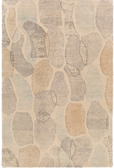 8' x 10' Stone Wonders Brown and Gray Hand Tufted Rectangular Wool Area Throw Rug - IMAGE 1
