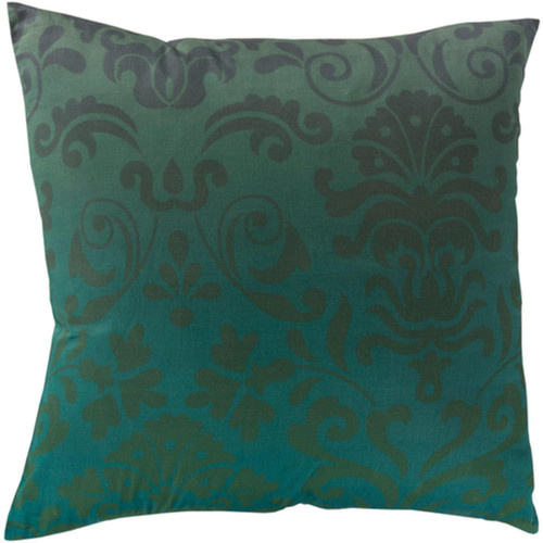 """22"""" Blue and Green Contemporary Throw Pillow Cover - IMAGE 1"""