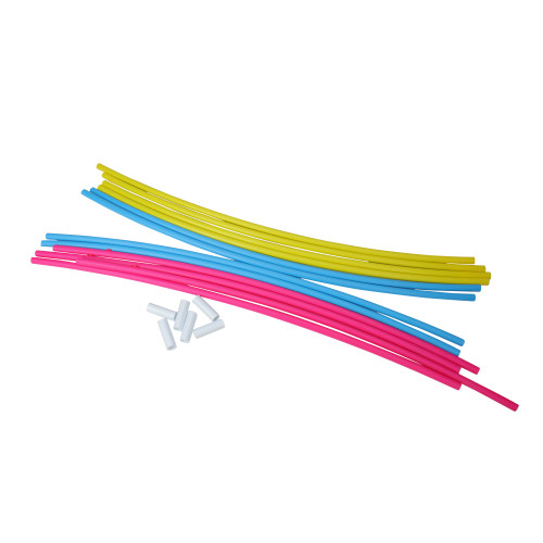 """4pc Pink and Yellow Underwater Slalom Hoops for Swimming Pools 22"""" - IMAGE 1"""