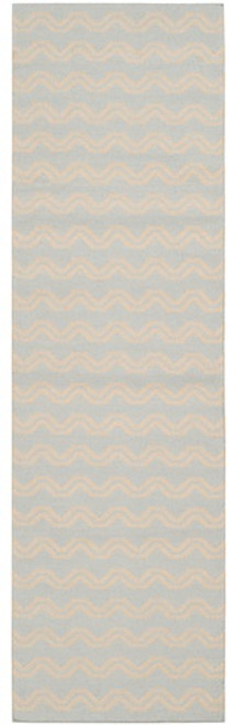 2.5' x 8' Transitional Taupe Brown and Dove Gray Hand Woven Rectangular Wool Area Throw Rug Runner - IMAGE 1