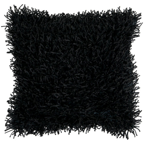 """22"""" Jet Black Solid Square Throw Pillow Cover - IMAGE 1"""