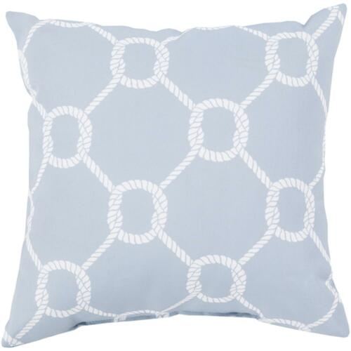 "20"" Willow Gray and White Roped Contemporary Square Throw Pillow Shell - IMAGE 1"