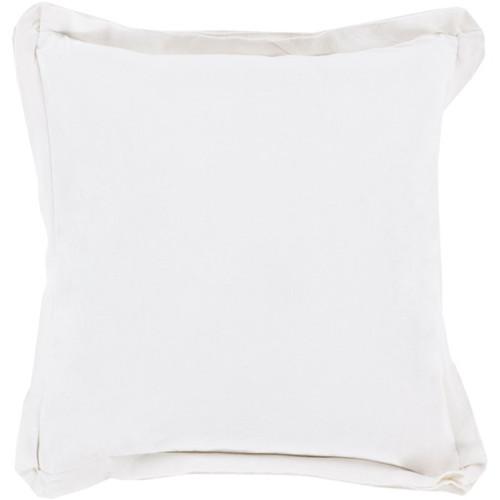 "20"" Vanilla Flanged Trim Decorative Throw Pillow - Down Filler - IMAGE 1"