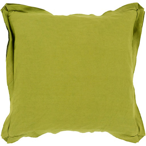 "20"" Olive Green Flanged Trim Decorative Throw Pillow Cover - IMAGE 1"