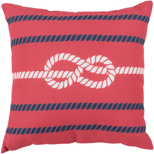 """20"""" Pink and Blue Contemporary Square Outdoor Throw Pillow - IMAGE 1"""