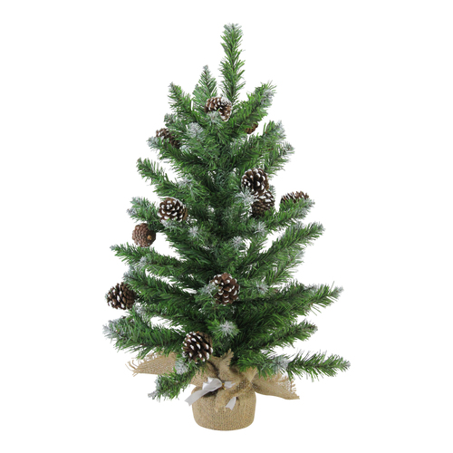 """24"""" Frosted Norway Pine with Pine Cones Medium Artificial Christmas Tree - Unlit - IMAGE 1"""