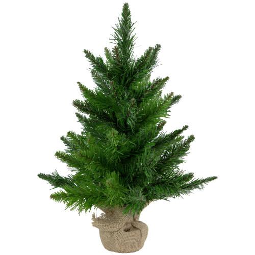 "18"" Mini Balsam Pine Medium Artificial Christmas Tree in Burlap Base - Unlit - IMAGE 1"