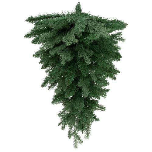 "30"" Mixed Eden Pine Artificial Christmas Teardrop Swag - Unlit - IMAGE 1"