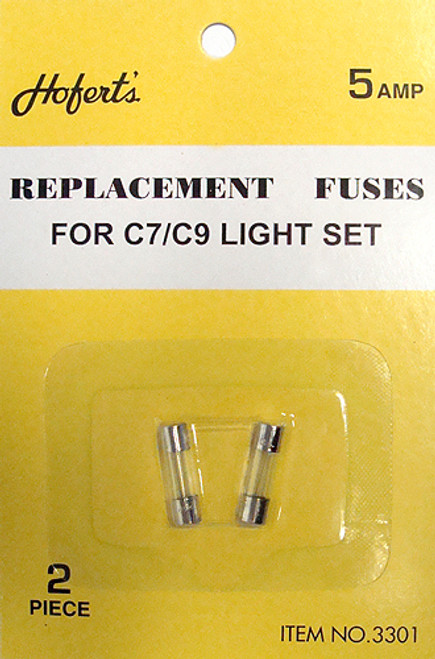 Set of 5 Clear Replacement Fuses for C7 or C9 Light Strings - 5 Amps - IMAGE 1