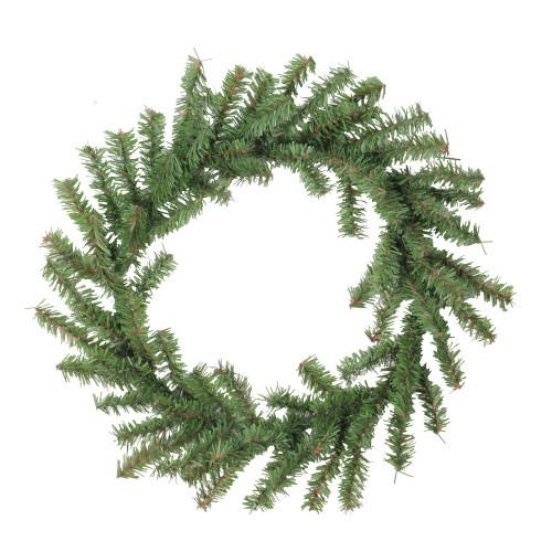 Mini Pine Two-Tone Artificial Christmas Wreath - 12-Inch, Unlit - IMAGE 1