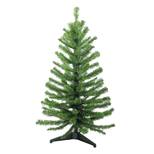 3' Two-Tone Balsam Fir Medium Artificial Christmas Tree - Unlit - IMAGE 1