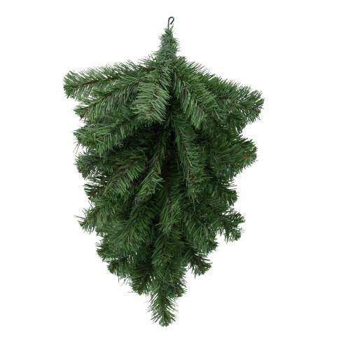 """22"""" Green Colorado Spruce Artificial Christmas Teardrop Swag - Unlit - IMAGE 1"""