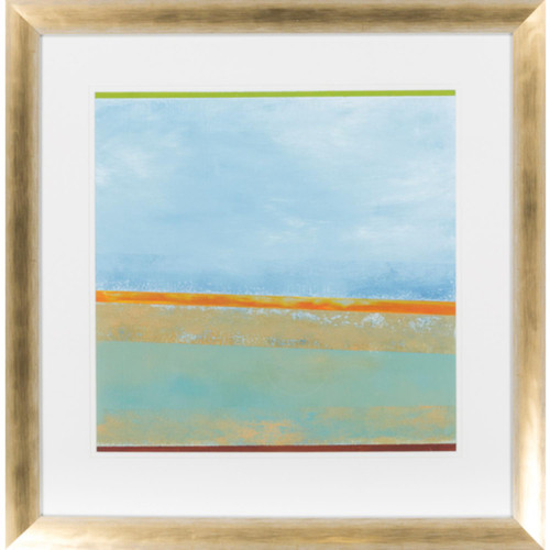 """27"""" x 28"""" """"Paths II"""" Turquoise Blue Abstract Framed Decorative Wall Art Decor - IMAGE 1"""