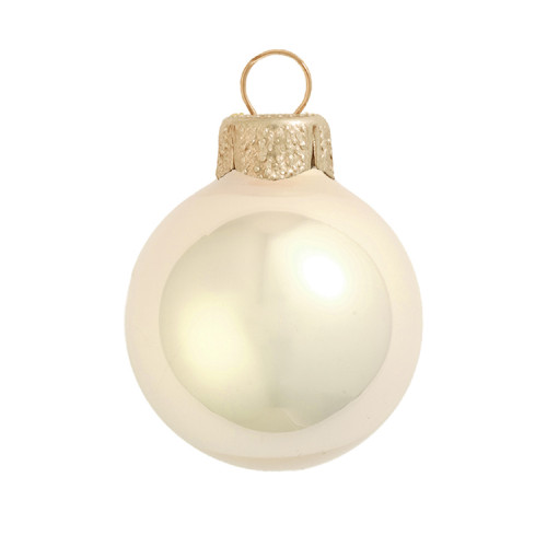 "28ct Pearl Champange Gold Glass Ball Christmas Ornaments 2"" (50mm) - IMAGE 1"