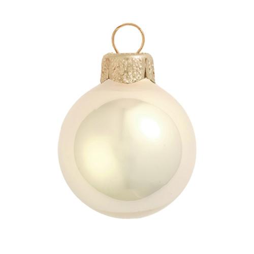 "28ct Pearl Champange Gold Glass Ball Christmas Ornaments 2"" (50mm) - IMAGE 1"
