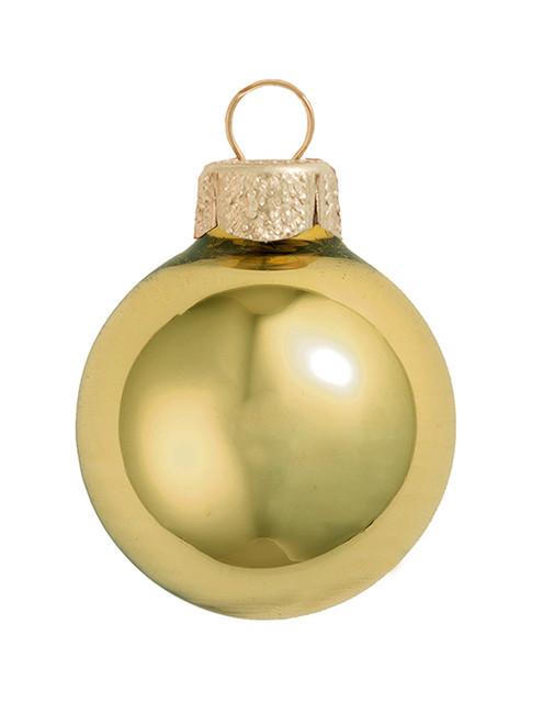 """12ct Sun Yellow Shiny Glass Christmas Ball Ornaments 2.75"""" (70mm) - IMAGE 1"""