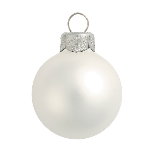 """40ct Silver Matte Finish Glass Hanging Christmas Ball Ornaments 1.25"""" (30mm) - IMAGE 1"""