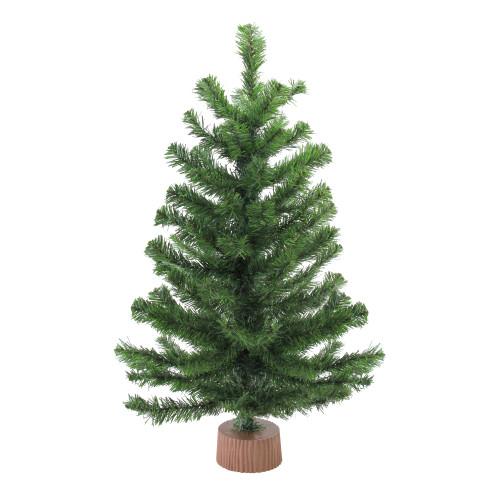 "28"" Balsam Pine Medium Artificial Christmas Tree in Burlap Base - Unlit - IMAGE 1"