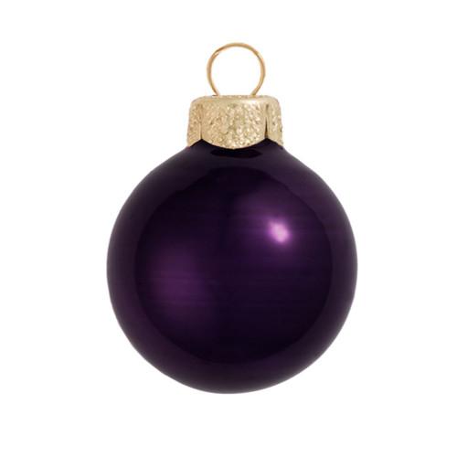 "28ct Pearl Purple Glass Ball Christmas Ornaments 2"" (50mm) - IMAGE 1"