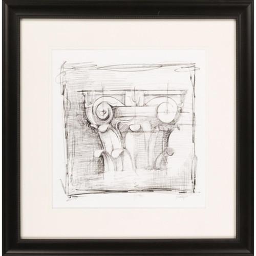 "23"" x 24"" ""Drafting Elements III"" Charcoal Black Framed Wall Art Decor - IMAGE 1"