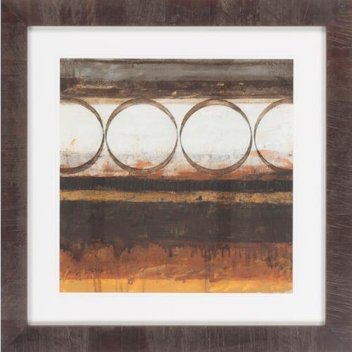 "30"" x 30"" ""Cavern II"" Chiffon White and Mocha Brown Framed Wall Art Decor - IMAGE 1"