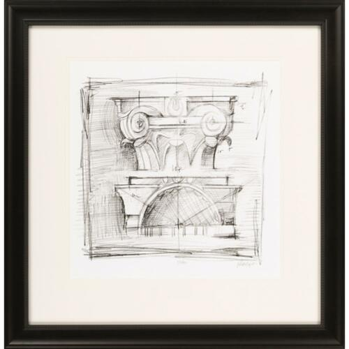 "23"" x 24"" ""Drafting Elements IV"" Charcoal Black Framed Wall Art Decor - IMAGE 1"