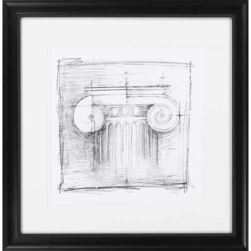 "23"" x 24"" ""Drafting Elements II"" Charcoal Black Framed Wall Art Decor - IMAGE 1"