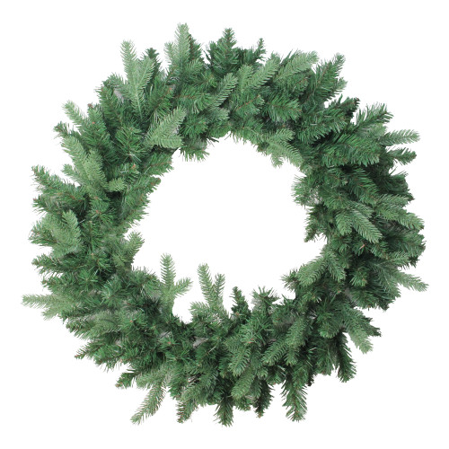 Green Coniferous Mixed Pine Artificial Christmas Wreath - 30-Inch, Unlit - IMAGE 1
