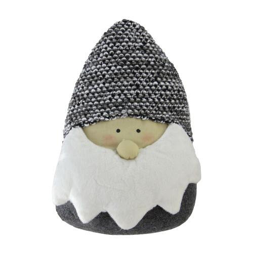 "8"" Gray and White Elegant Santa Head Gnome Tabletop Decor - IMAGE 1"