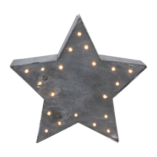 """9.8"""" Lighted Gray 5 Point Star Christmas Tabletop Decoration - IMAGE 1"""