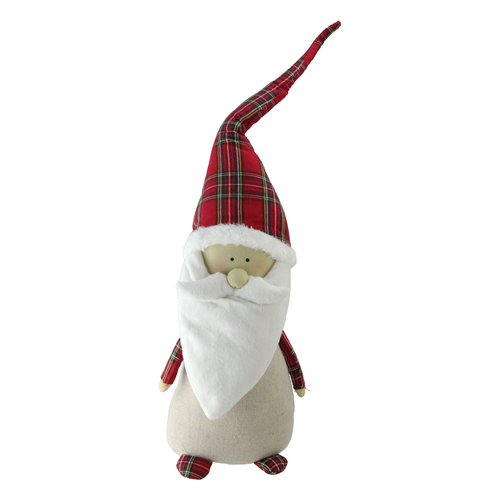 24 White Red Tumbling Santa Gnome With Plaid Hat Christmas Tabletop Figurine Christmas Central