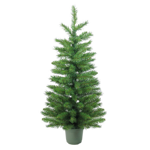 4' Potted Norway Spruce Medium Artificial Christmas Tree - Unlit - IMAGE 1