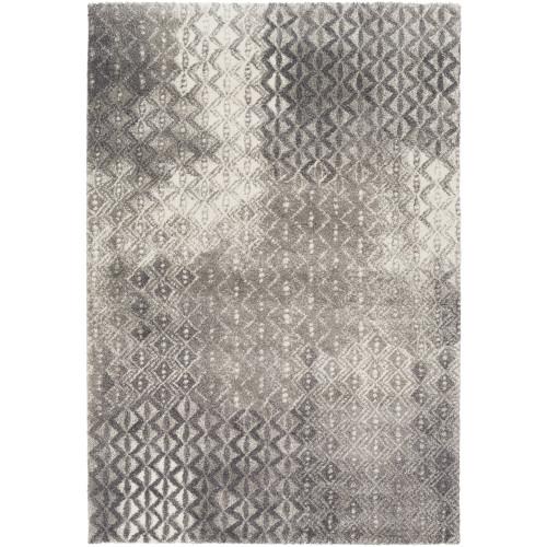 4' x 5.5' Jagged Fantasies Charcoal Gray Rectangular Area Throw Rug - IMAGE 1