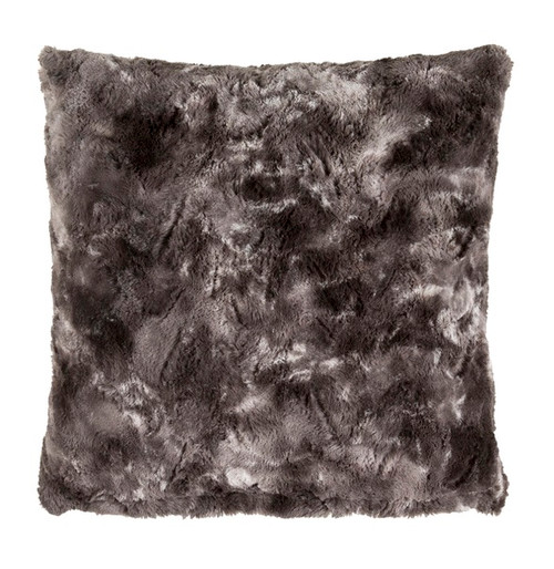 "22"" Black and Gray Colored Woven Square Throw Pillow - Poly Filled - IMAGE 1"