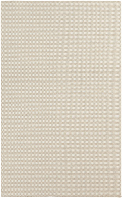 3.25' x 5.25' Ivory and Gray Hand Woven Wool Throw Rug - IMAGE 1