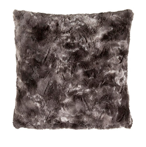 "18"" Black and Gray Woven Square Throw Pillow - Poly Filled - IMAGE 1"