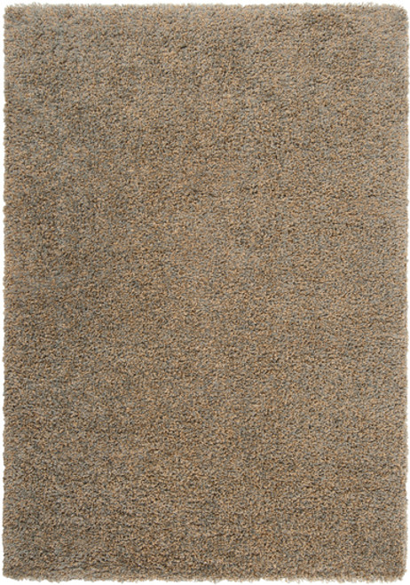 1.8' x 2.9' Foggy Blue and Brown Twisted Rectangular Area Throw Rug - IMAGE 1
