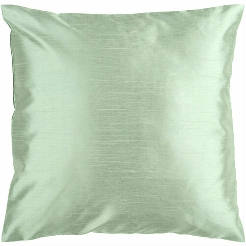 "22"" Gray Solid Contemporary Square Throw Pillow - IMAGE 1"