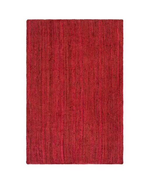 8' x 10' Berry Red Hand Woven Reversible Rectangular Area Throw Rug - IMAGE 1