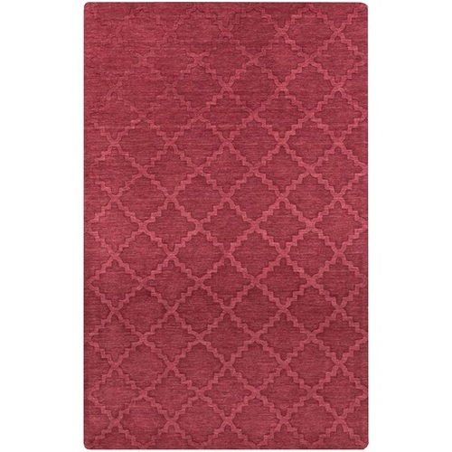 2' x 3' Piper Burgundy Red Hand Loomed Rectangular Wool Area Throw Rug - IMAGE 1