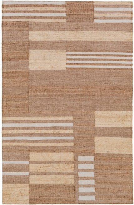 2' x 3' Mystic Woodlands White and Brown Hand Woven Area Throw Rug - IMAGE 1