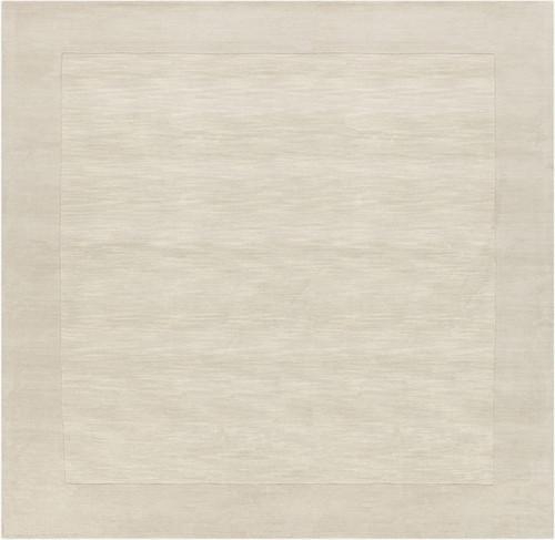 9.75' x 9.75' Magical Moments Ivory Hand Loomed Square Wool Area Throw Rug - IMAGE 1