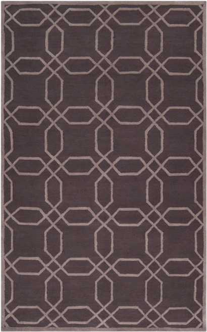 8' Calming Cosmeas Brown and Beige Hand Woven Round Area Throw Rug - IMAGE 1