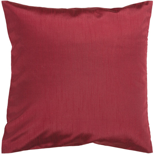 """18"""" Brick Red Solid Contemporary Square Throw Pillow - Down Filler - IMAGE 1"""