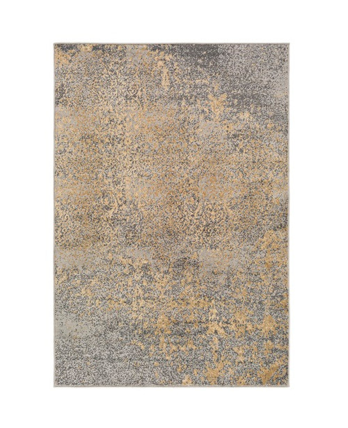 6.6' x 9.5' Natural Apparitions Powder Blue and Jet Black Rectangular Area Throw Rug - IMAGE 1