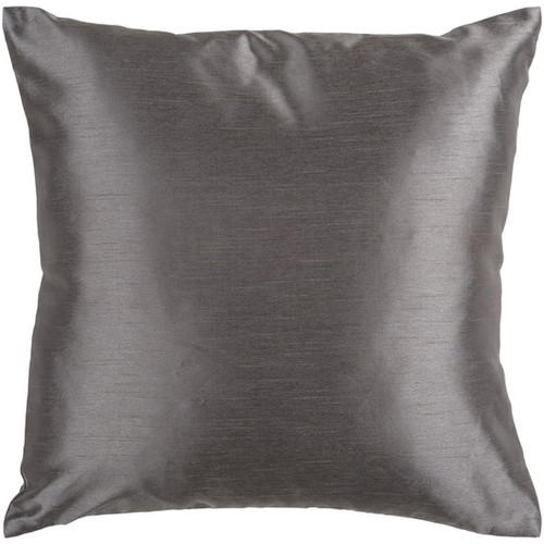 "22"" Charcoal Gray Square Contemporary Solid Throw Pillow - IMAGE 1"