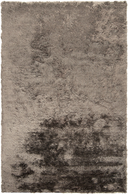 3.5' x 5.5' Shimmering Mottle Gray Hand Woven Area Throw Rug - IMAGE 1