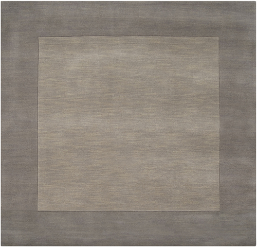 9.75' x 9.75' Solid Gray Hand Loomed Square Wool Area Throw Rug - IMAGE 1