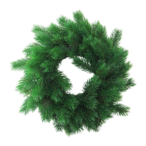Green Pine Artificial Christmas Wreath - 12-Inch, Unlit - IMAGE 1