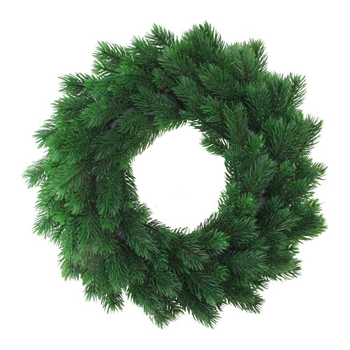 Green Pine Artificial Christmas Wreath - 16-Inch, Unlit - IMAGE 1